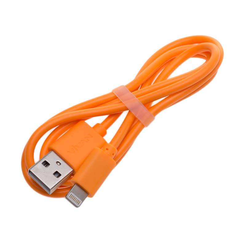 Vivan High Quality Orange USB Cable for Iphone 5