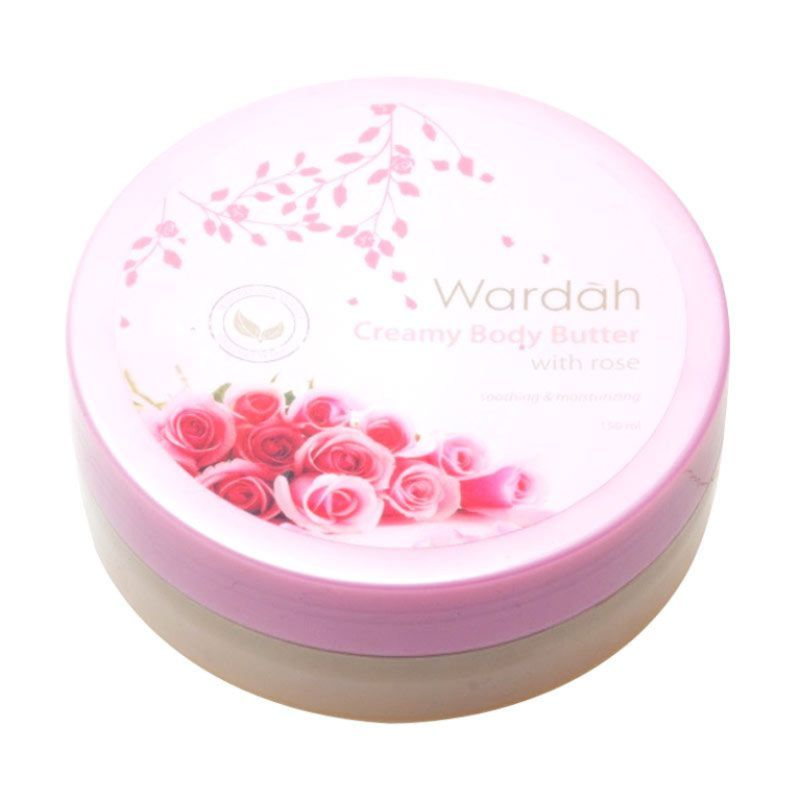 Wardah Creamy Body Butter with Rose (natural Essence)