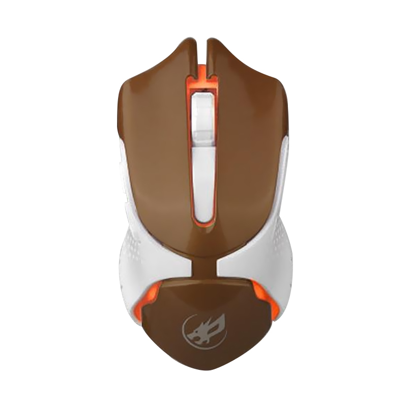 WarWolf Q-5 Gaming Mouse - Brown [7 LED Light]