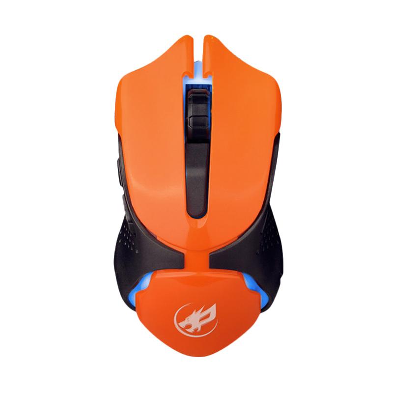 WarWolf Q-5 Gaming Mouse - Orange [7 LED Light]