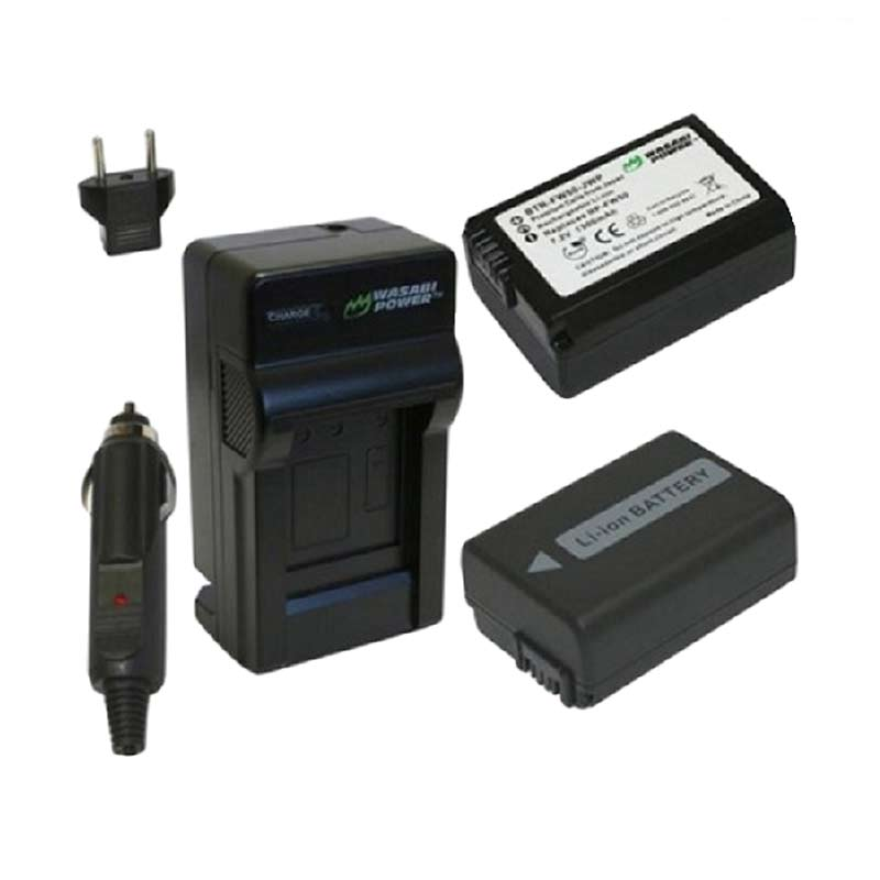 Lithium Ion Battery >> Wasabi Power Kit Btr Fw50 Rechargeable Lithium Ion Battery Pack Hitam Free Charger Witacom