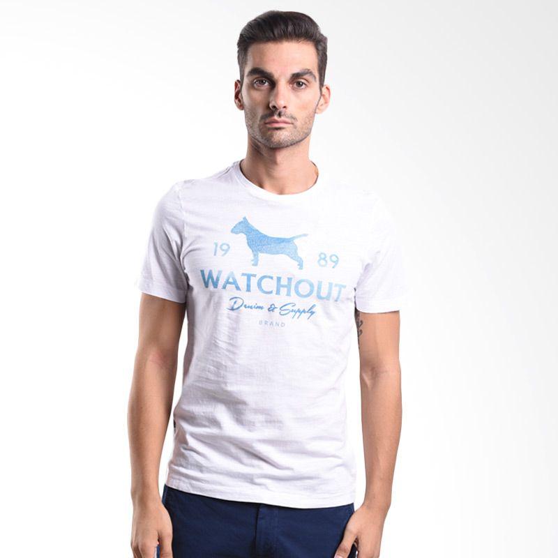 Watchout Jeans Printed Detail 062 JK400620002 White Kaos Pria