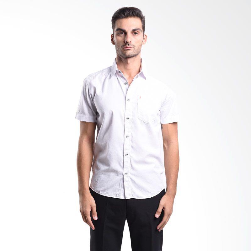Watchout Colour Series Short Sleeve Shirt 003 WS900030002 White Kemeja Pria