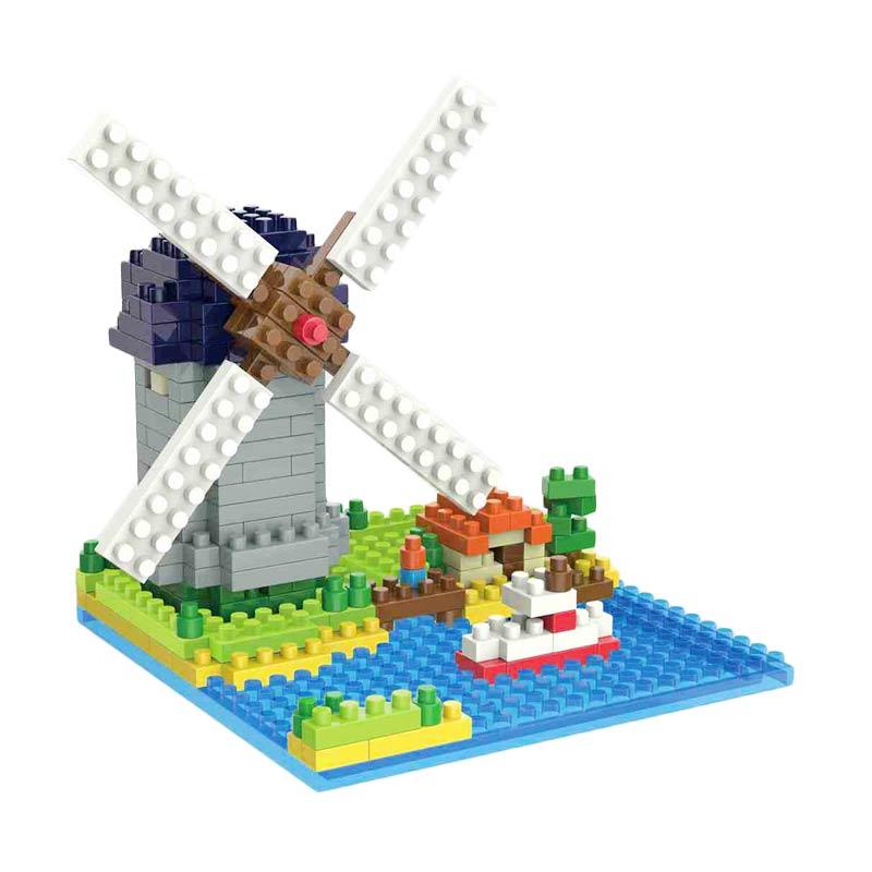 Weagle 2281 Molen Nederland Mainan Blok & Puzzle