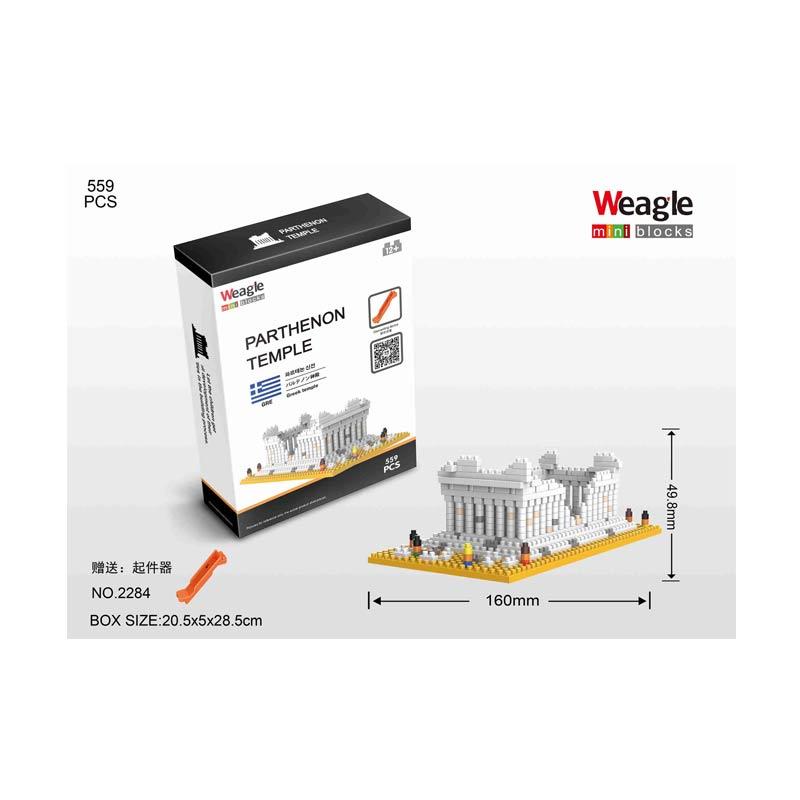 Weagle 2284 Parthenon Temple Mainan Blok & Puzzle