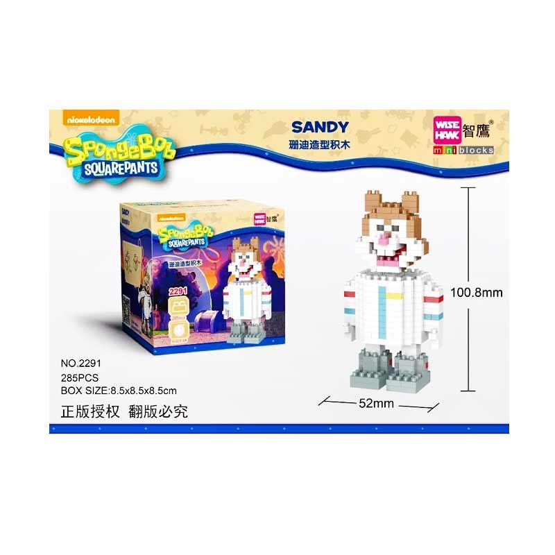 Weagle 2291 SpongeBob Squarepants Sandy Mainan Blok & Puzzle [285 pcs]