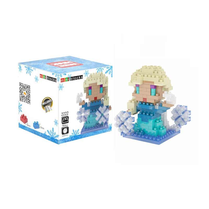 Weagle Box 2222 Elsa Frozen Mainan Blok and Puzzle