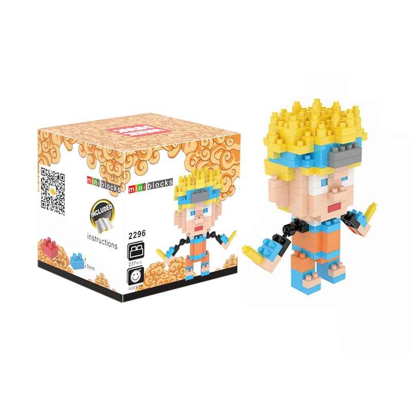 Weagle Box 2296 Naruto Mainan Block & Puzzle