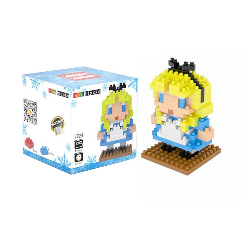 Weagle Boz 2224 Alice In Wonderland Mainan Blok and Puzzle