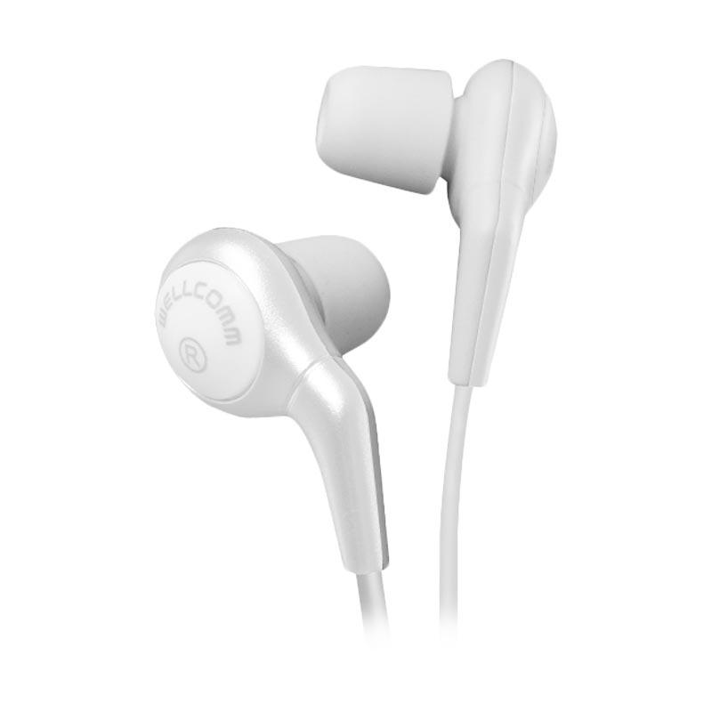 Wellcomm SP-08 Extra Bass High Quality Earphone Stereo - Putih