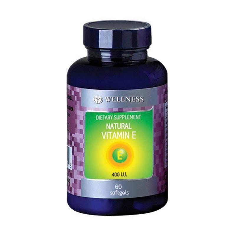 Wellness Natural Vitamin E-400 I.U Water Soluble (60 Softgel)