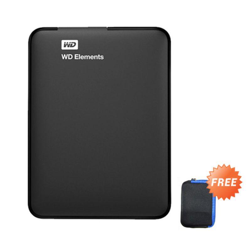 harga wD Elements Black Hard Disk External [1 TB/2.5 Inch/USB 3.0] + Sofcase WD Blibli.com
