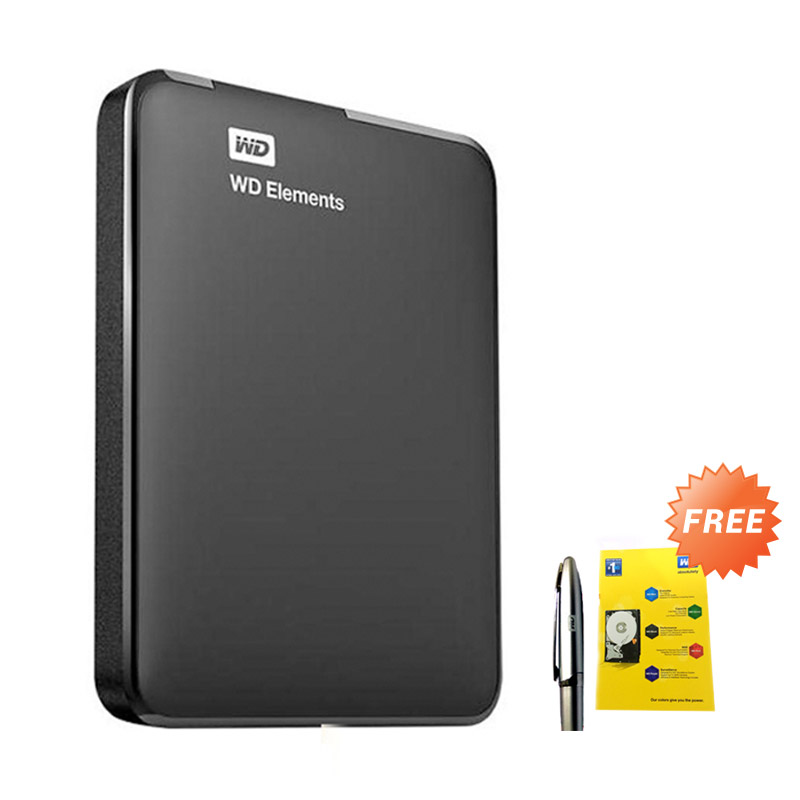 WD Elements 2 TB Black Hard Disk Eksternal [2.5 inch] + Pen WD + Memo