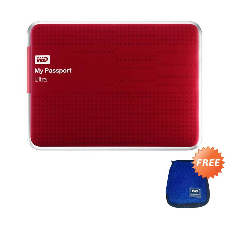 WD My Passport Ultra USB 3.0 Red Hard Disk [1 TB]