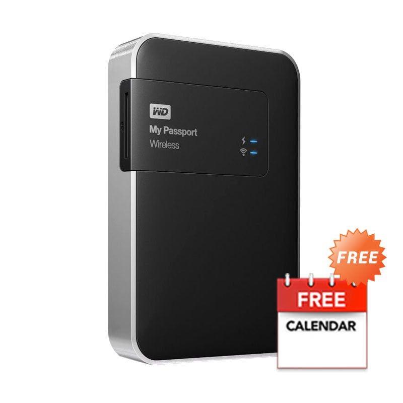 harga WD My Passport Wireless 2 TB Black Hardisk Eksternal + Kalender Blibli.com