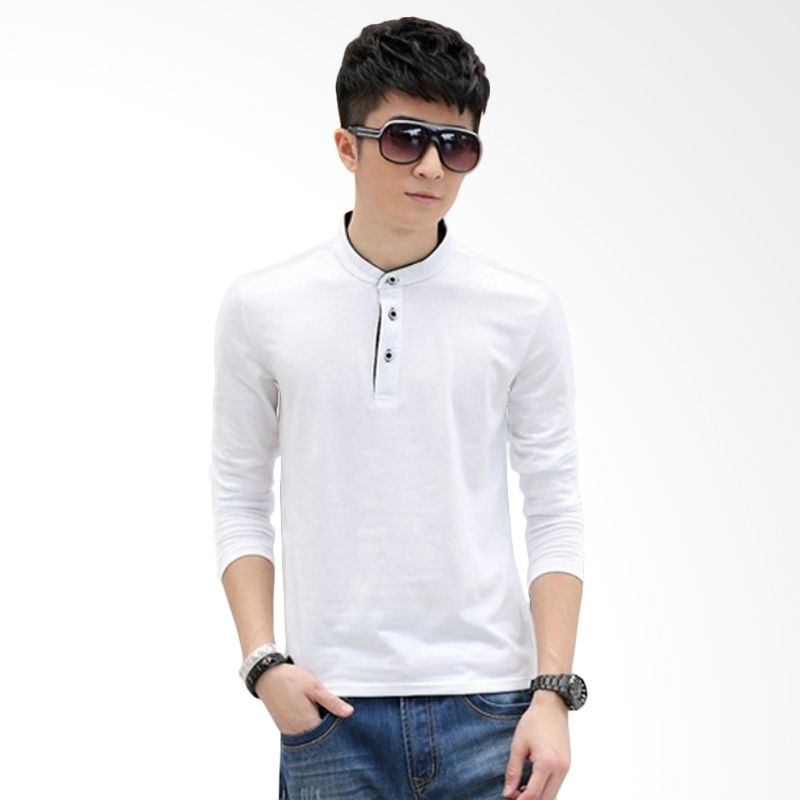 Upstyle Man Long sleeve 101 White Kaos Pria