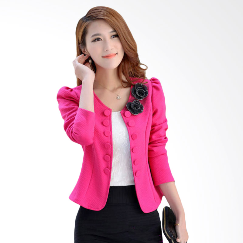 White Lotus 215 Flower Blazer - Fuschia