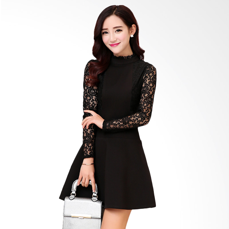 White Lotus Lace 210 Black Dress