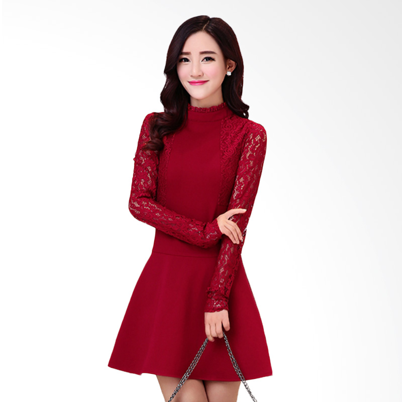 White Lotus Lace 210 Red Dress