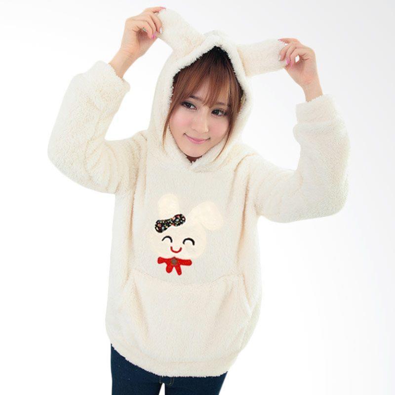 White Lotus Rabbit Fur WJ-210 Hoodie Sweater