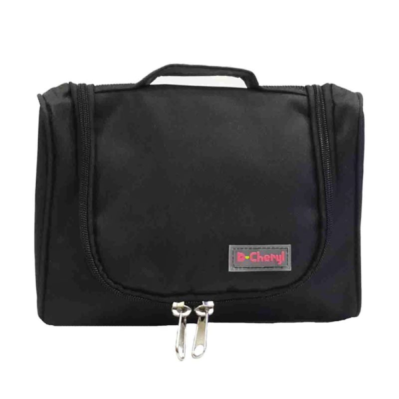 D'Cheryl Mini Toiletries Bag Organizer (MTBO-DC) Black Pouch