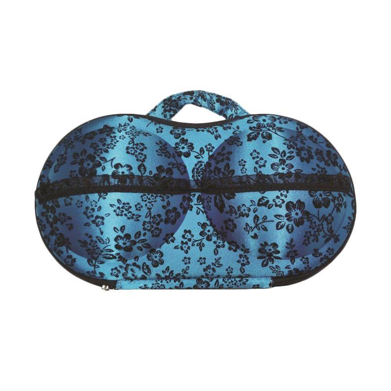 D'Cheryl Panty Eva Bunga Biru Bra Bag