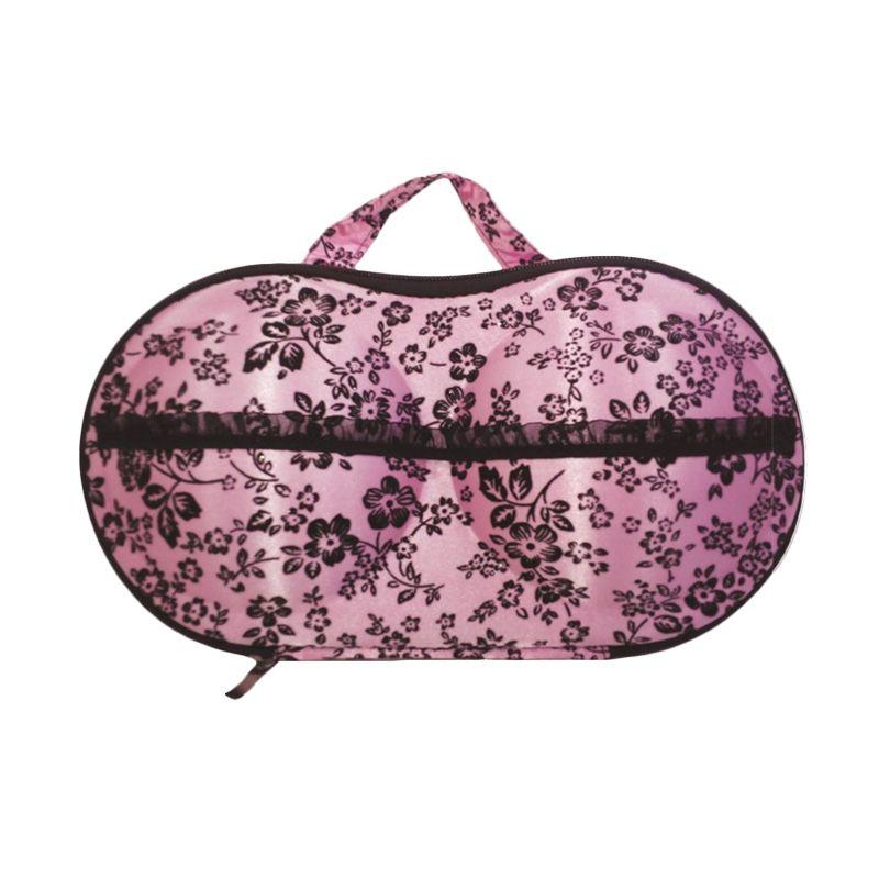 D'Cheryl Panty Eva Bunga Pink Bra Bag