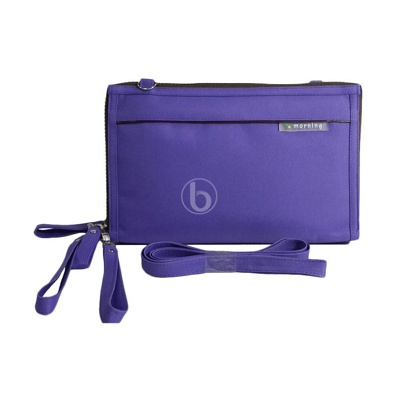 Morning DHPO-B Purple Black Pouch Organizer