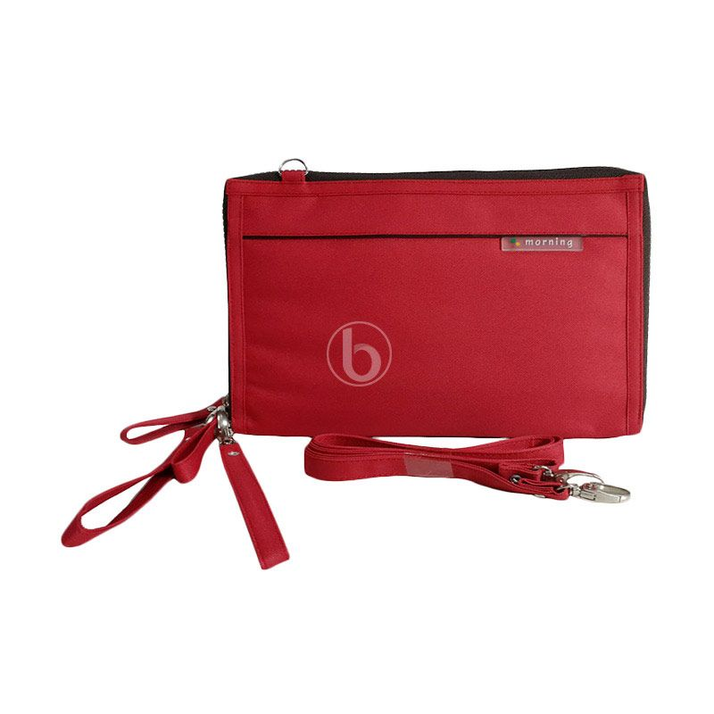 Morning DHPO-B Red Pouch Organizer