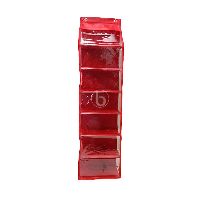 Moreniq HSJZ-B Merah Hanging Shoes Organizer