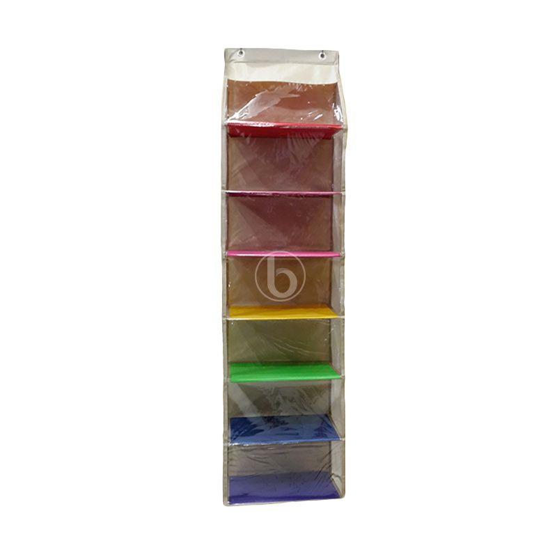 Moreniq HSJZ-B Cream Rainbow Hanging Shoes Organizer
