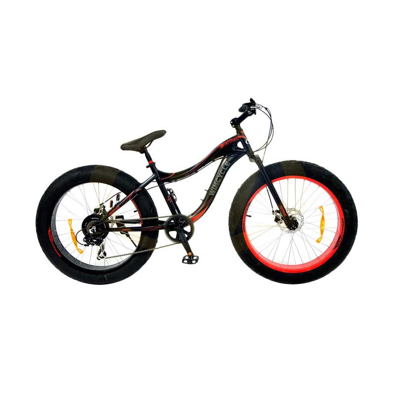 harga Wimcycle MTB Fatman 7SPD-Alloy Hitam Sepeda Gunung [26 Inch] Blibli.com