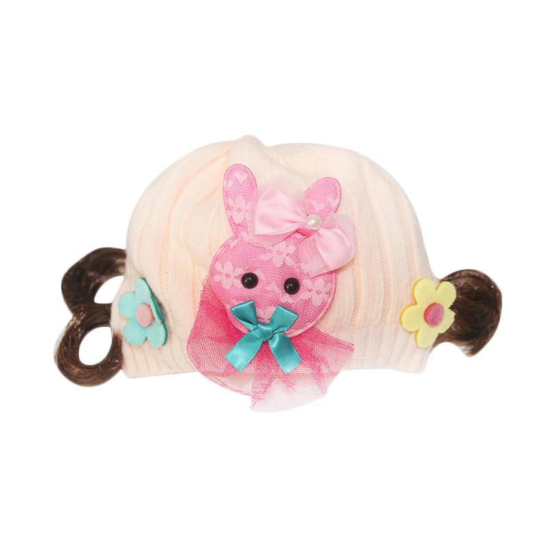 Win Win Crochet Girl Rabbit Topi Bayi - Light Orange