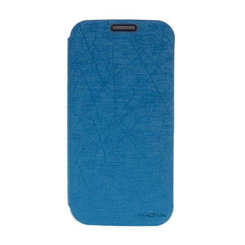 Advan Flip Cover Biru Casing for Advan S5+ [Original]