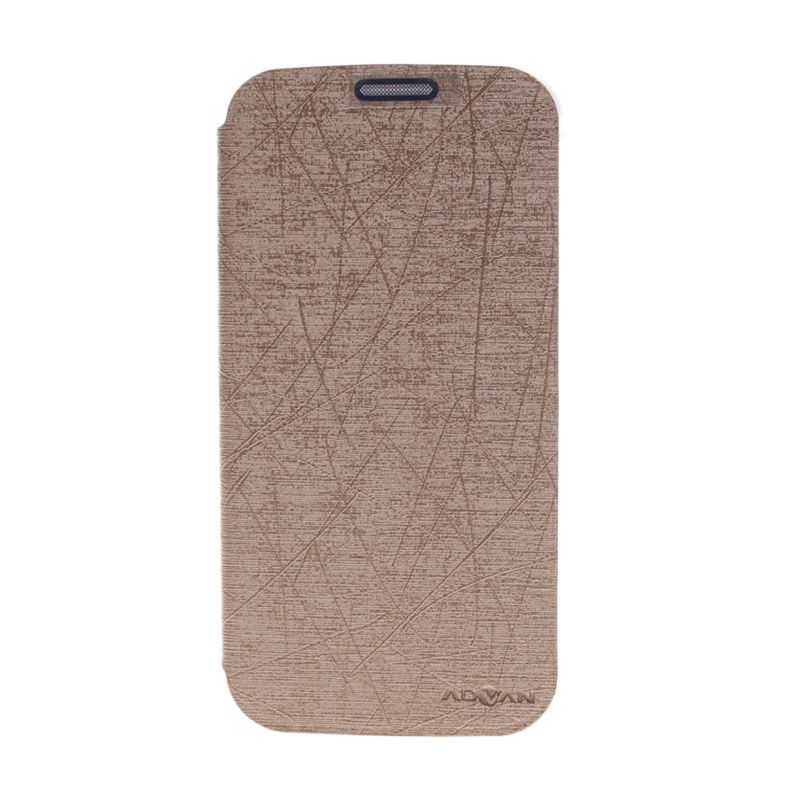 Advan Flip Cover Gold Casing for Advan S5+ [Original]