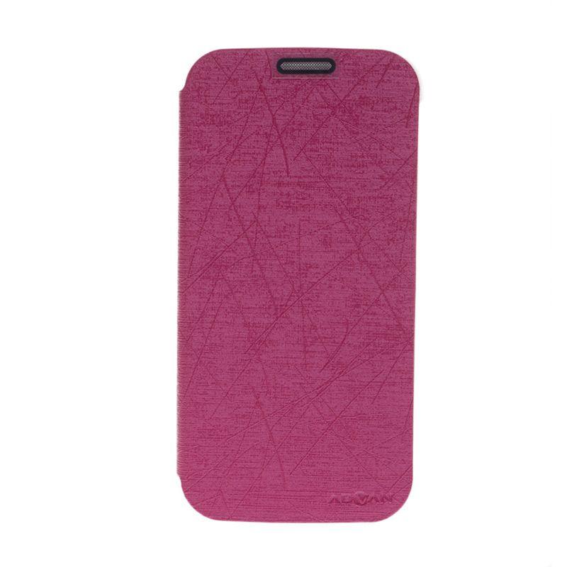 Advan Flip Cover Pink Casing for Advan S5+ [Original]