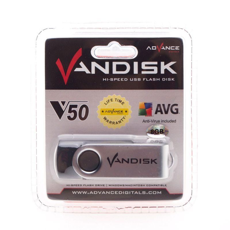 Vandisk V50 8 GB Hitam Flashdisk