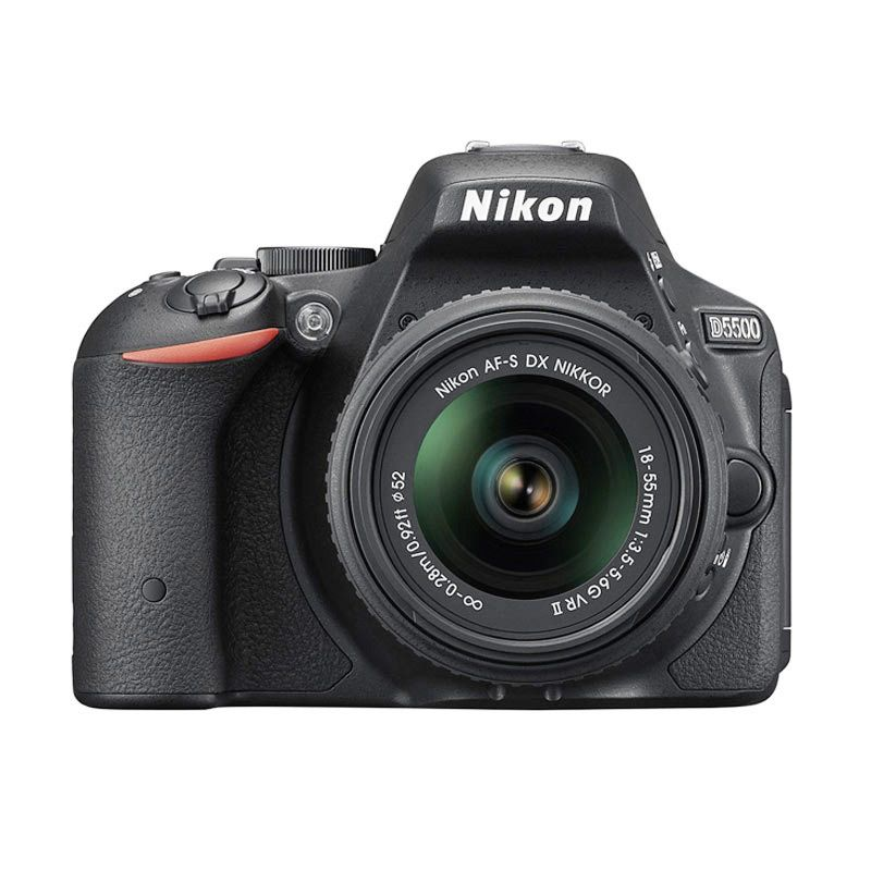Nikon D5500 Kit 18-55mm VR II Black Kamera DSLR