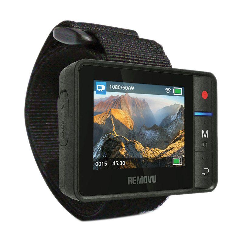REMOVU R1 Live View Remote Black Aksesoris Kamera For GoPro [HERO3/HERO3+/HERO4/HERO4 Session]