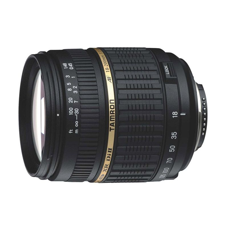 Tamron AF 18-200mm F/3.5-6.3 XR Di II LD Aspherical IF Macro Lensa Kamera for Nikon