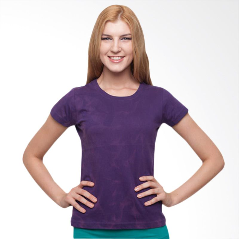 Wise Word Wear Ladies Basic T-shirt Purple