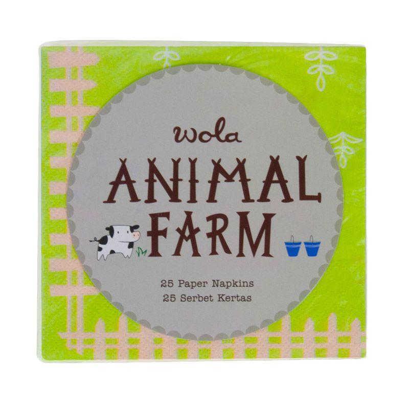 Wola Animal Farm Napkins Ulang Tahun Hijau Kertas [25 Pcs]
