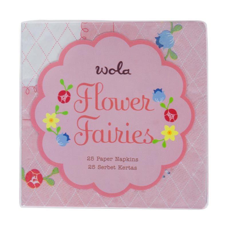 Wola Flower Fairy Pink Napkins [25 Pcs]