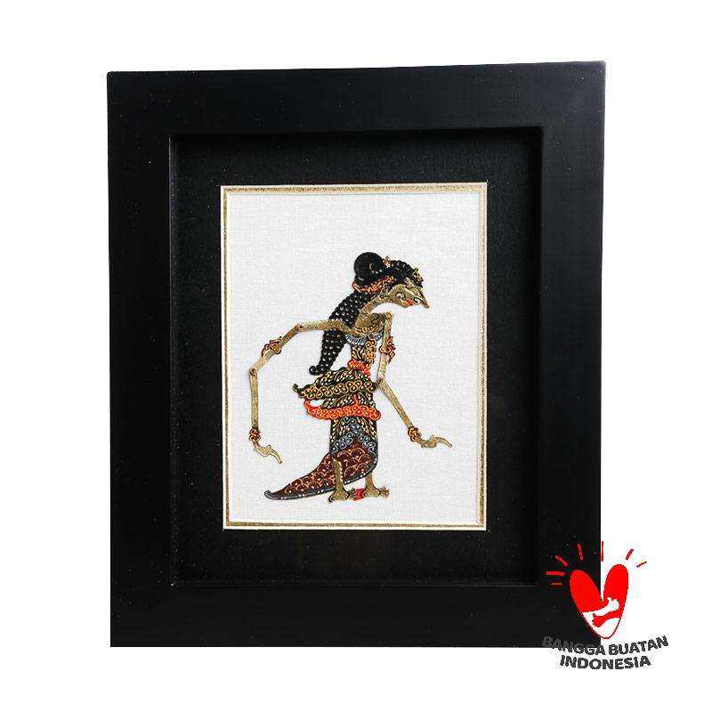 Wonosariart Wayang Kulit Sinta Frame Kaca 24 x 28 cm