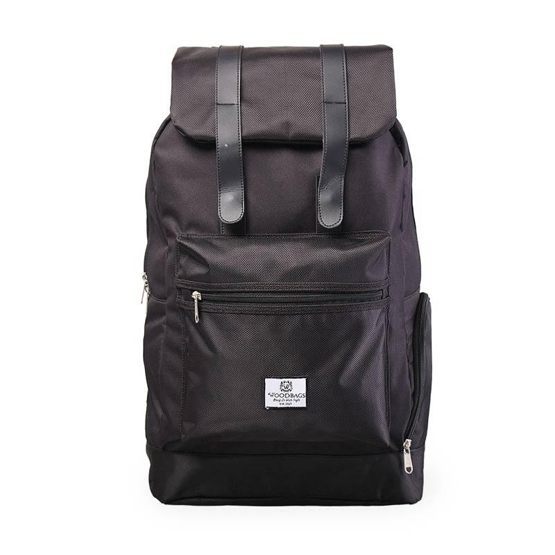 Woodbags Backpack Sportvio Tas Ransel - Full Black
