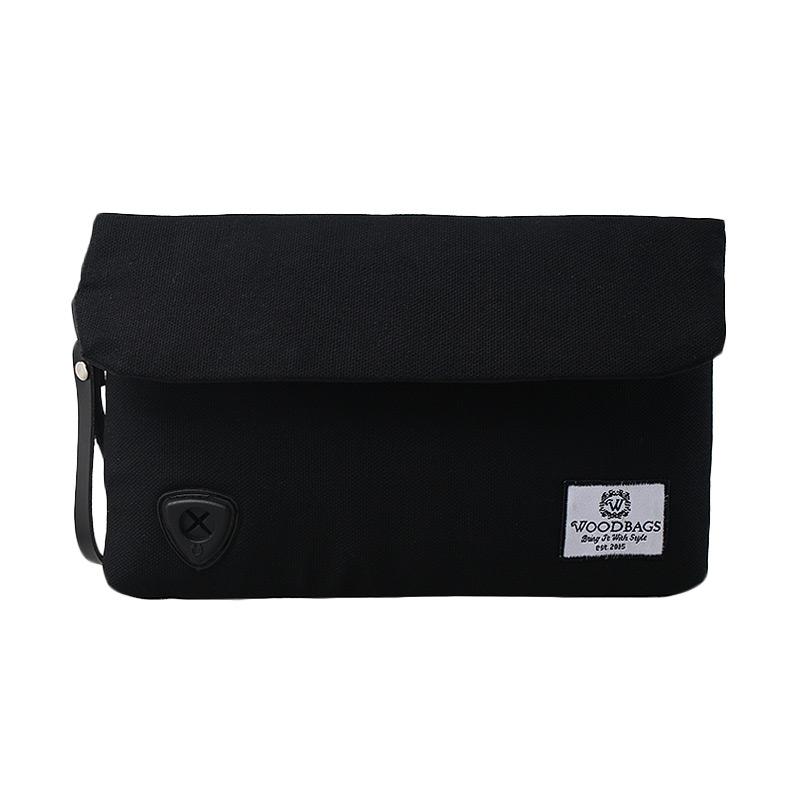 harga BLIKAN - Woodbags Original Clutch - Black Blibli.com