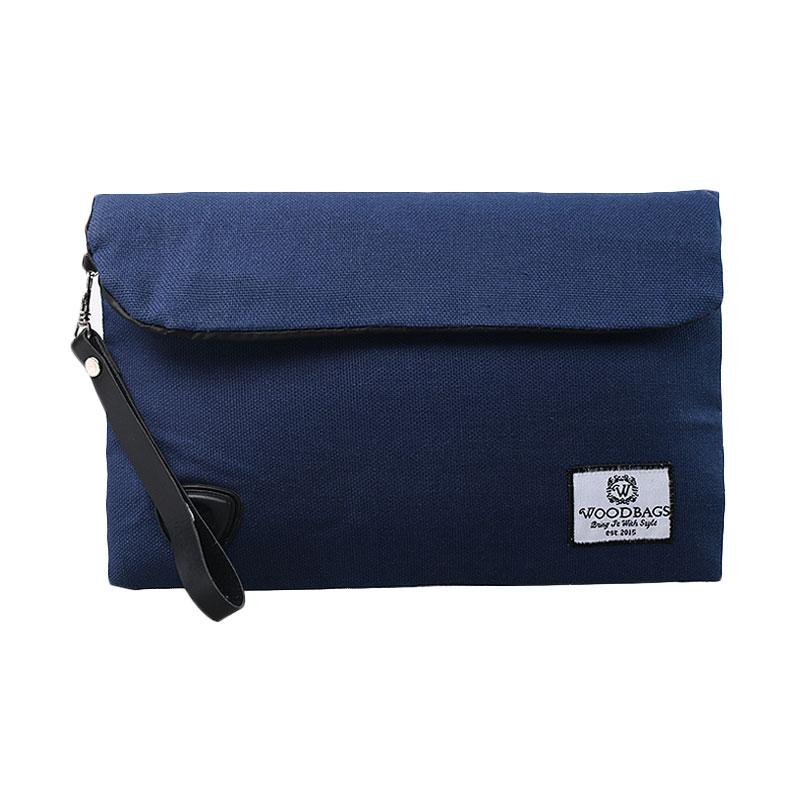 Woodbags Original Clutch - Navy Blue