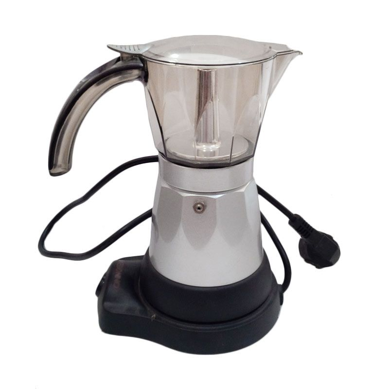 Akebonno High Quality Electric Moka Pot with Elegant Design 6 Cup (200ml)