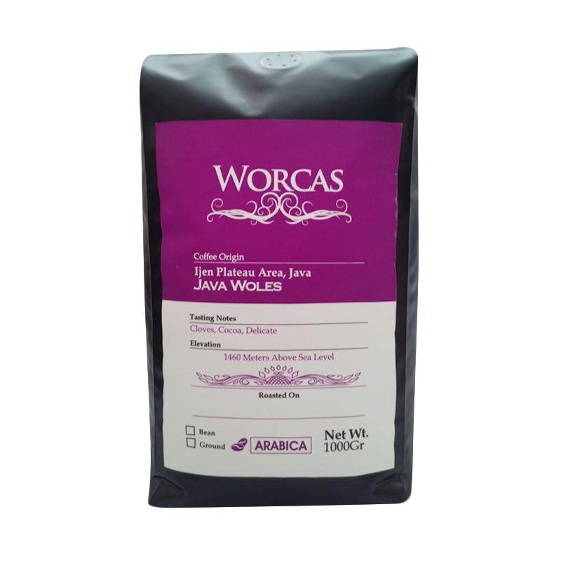 Worcas - Arabika Java Woles Biji Kopi 1000 gr