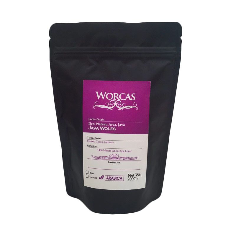 Worcas - Arabika Java Woles Biji 200 gr